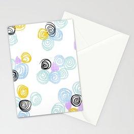 Fan's pattern design- Purple love Ocean Safari Stationery Cards