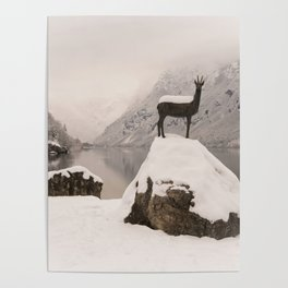 The Stag At Lake Bohinj Poster