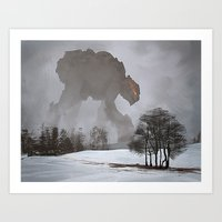 Mysterious Creature Art Print