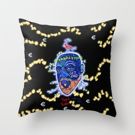 The Nasty Rich French Bird Throw Pillow