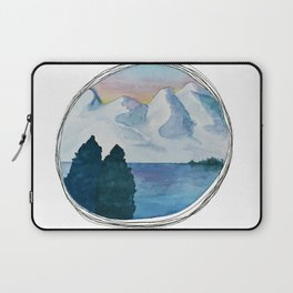 Spanish Snowy Mountains over the River Laptop Sleeve