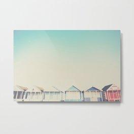 the beach hut ... Metal Print