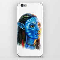 avatar iPhone & iPod Skins featuring Avatar by Aoife Rooney Art