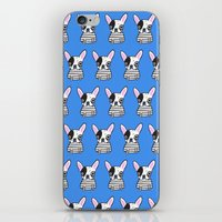 frenchie iPhone & iPod Skins featuring frenchie by turddemon