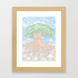 Roots and Leaves Framed Art Print