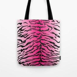 Tiger Print Pink & White Tote Bag
