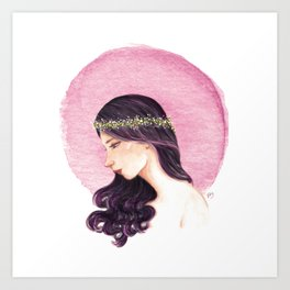 Purple Girl Art Print