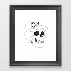 COOL SKULL Framed Art Print