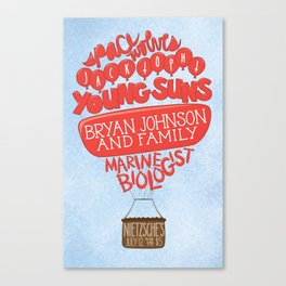 """Balloons"" gig poster Canvas Print"