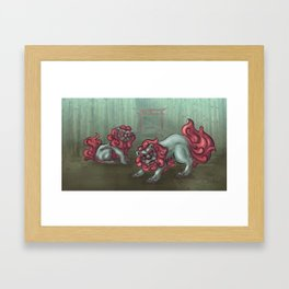 Koma Inu Framed Art Print