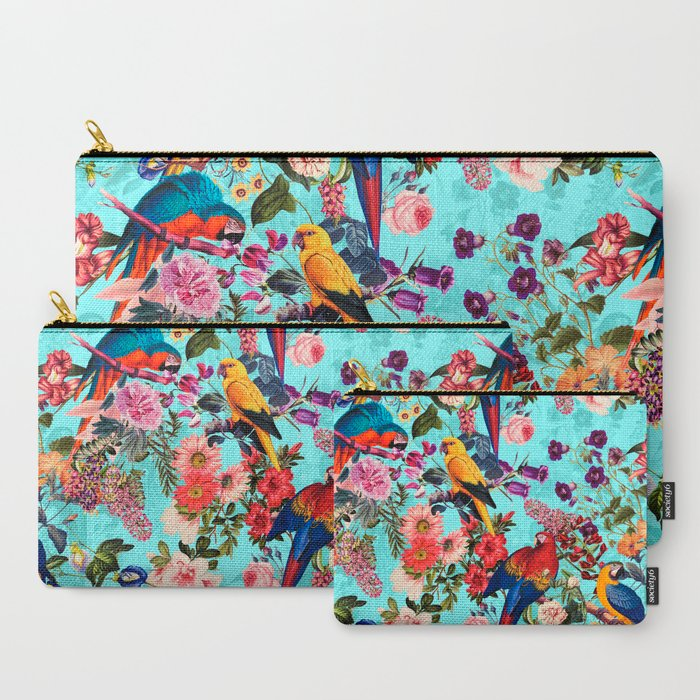 Floral_and_Birds_XI_CarryAll_Pouch_by_Burcu_Korkmazyurek__Set_of_3
