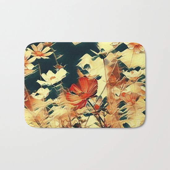 Cosmos in Abstract Bath Mat
