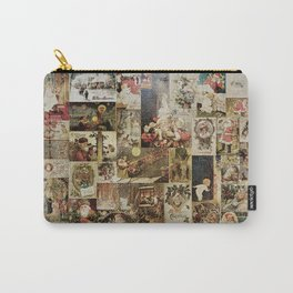 Merry Christmas - Santa angels & friends - collage Carry-All Pouch