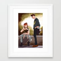 scully Framed Art Prints featuring Hey Scully... by Jena Young