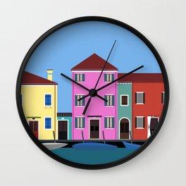 Isola di Burano, Italy Wall Clock