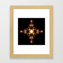 Fire Cross Framed Art Print