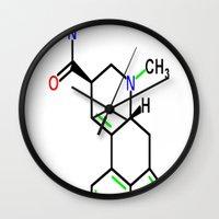 lsd Wall Clocks featuring LSD by TLineInc