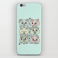 kittens iPhone & iPod Skins featuring Kittens by Artificial primate
