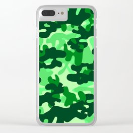 Camouflage (Green) Clear iPhone Case