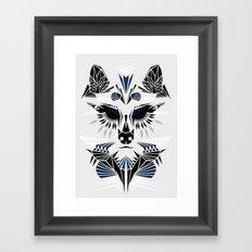 Abstract Wolf Framed Art Print