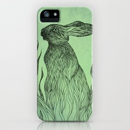 Hiding in the green iPhone Case