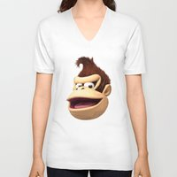 donkey kong V-neck T-shirts featuring Triangles Video Games Heroes - Donkey Kong by s2lart