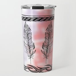 Tribal Feathers Travel Mug