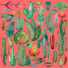 Art Print - Summer Nature in Pink - rodrigomffonseca