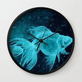 Goldfishes at night Wall Clock