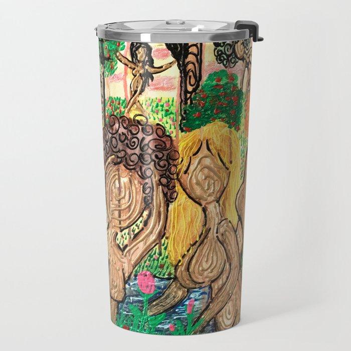 Lady Swirls and Curls Travel Mug