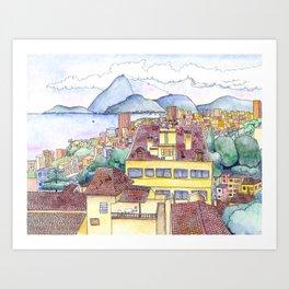 View from Ruins Park, Rio de Janeiro Art Print