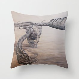 Desert Giants Throw Pillow