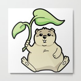 Little Chubby Happy Gopher Shading Itself Metal Print