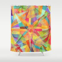 star Shower Curtains featuring Star by Danny Ivan