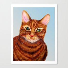 Ginger Tom Cat Print Original Watercolour Painting Alison Langridge Wildlife Nature Pet Watercolor A Canvas Print