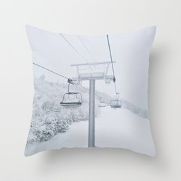 Skiing in New Hampshire Throw Pillow