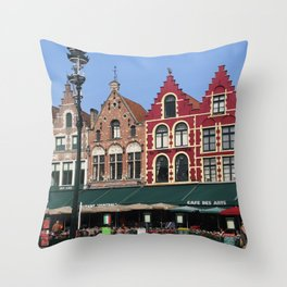BELGIUM BRUGGES HOUSES Throw Pillow