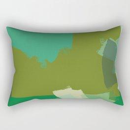 Ode to green 3 Rectangular Pillow