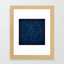 Pick Up Sticks Framed Art Print