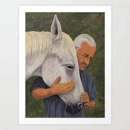 Equine Friend Art Print