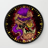 bebop Wall Clocks featuring Bebop is infected! by DesecrateART (Infected)