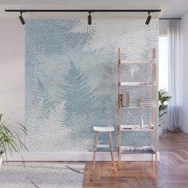 Fern Snowflakes - Taupe, Aqua & Blues Wall Mural