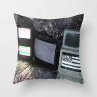 tv Throw Pillows featuring Bollywood Televisions by BOLLYWOOD