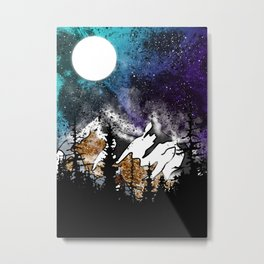Mountain Nebular Metal Print