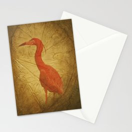Red Heron Stationery Cards