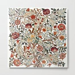 """William Morris """"Acanthus portière"""" Metal Print"""