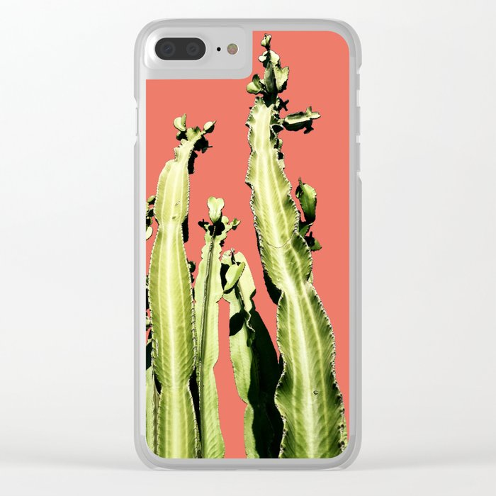 Cactus - red Clear iPhone Case