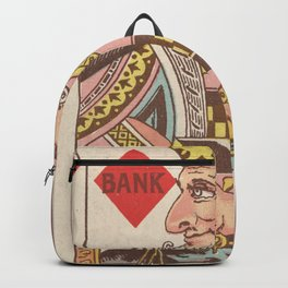 Vintage King of Diamonds Playing Card Illustration Backpack