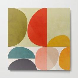 shapes of mid century geometry art Metal Print