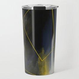 black and blue Travel Mug